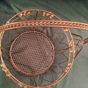 Accents - Vintage. Wire beaded basket